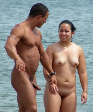 Big butch Brazilian dick on the beach
